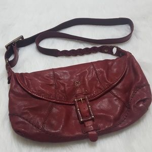 Lucky Brand Italian Leather Crossbody Bag Purse